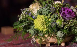 ehető virág, dekoráció, esküvői dekoráció