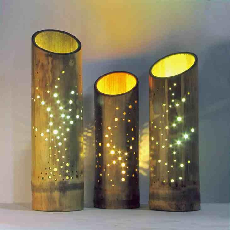 Donna Wakelin bambusz lámpa