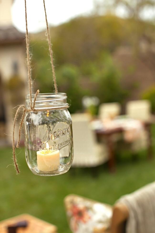 befőttesüvegből kerti lámpa