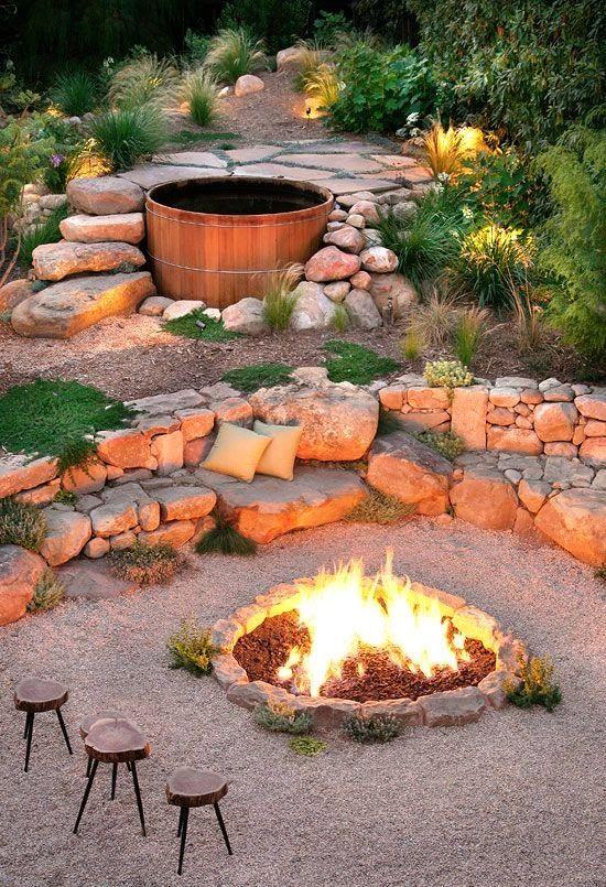 hangulatos kerti tűzrakóhely
