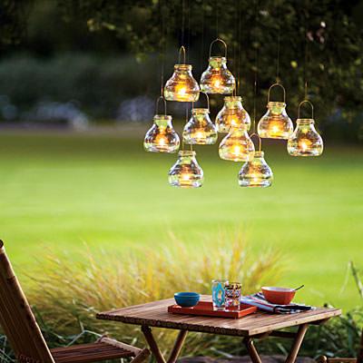 függő üveg lámpás