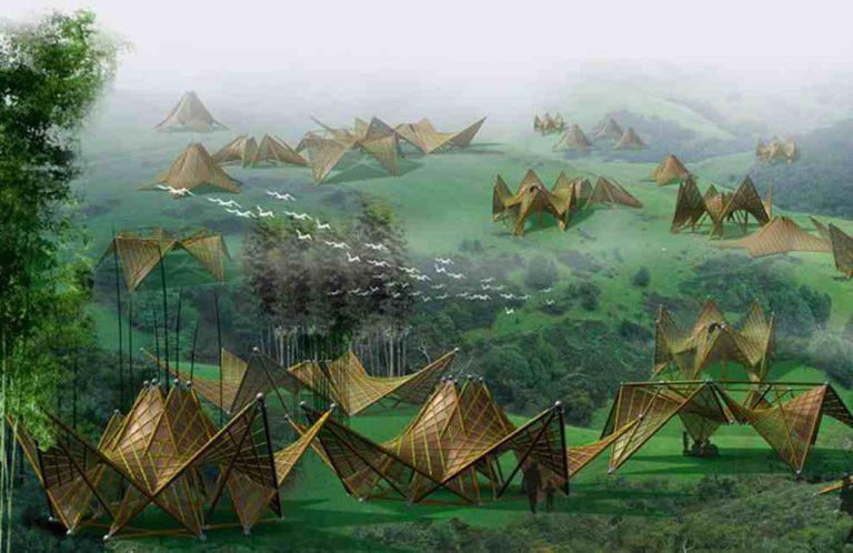 ming bambusz házak
