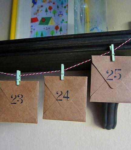 minimalista adventi naptár