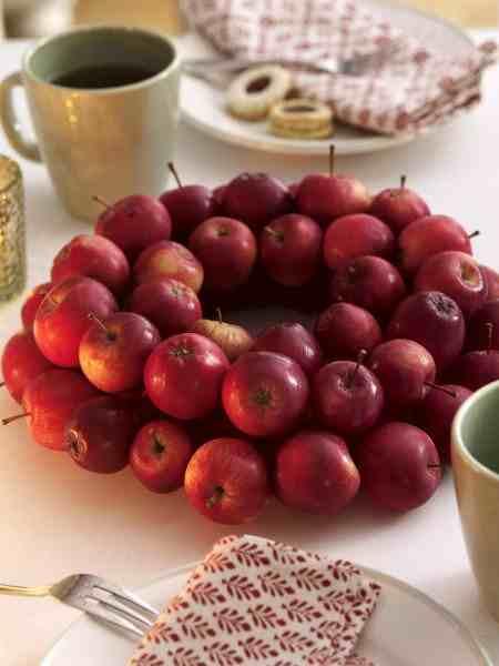 őszi asztaldekor almából