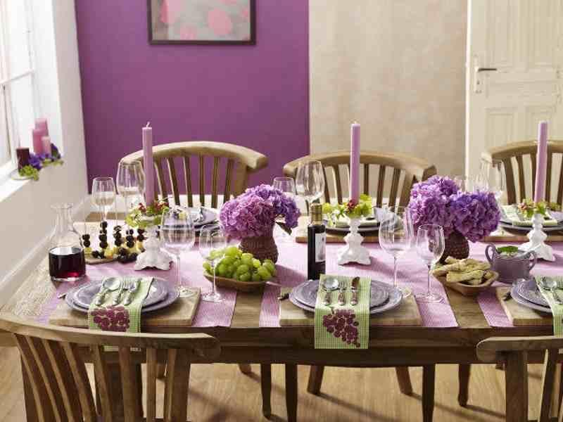 hortenzia, lila futó, gyertya, szőlő