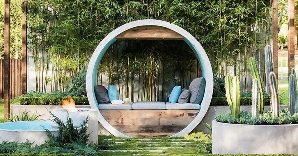Beton újrahasznosítás az év díjnyertes kertjében