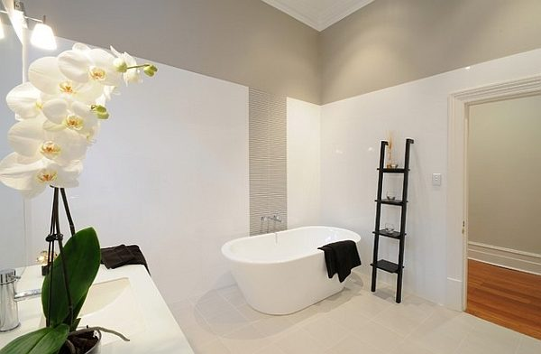 Black-ladder-shelf-offers-cool-visual-contrast