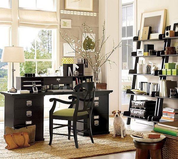 Ergonomic-ladder-shelves-for-the-modern-home-office