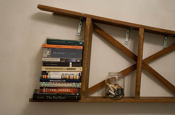Vintage-ladder-mounted-horizontal-on-the-wall