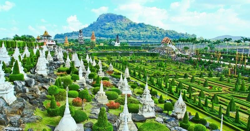 Szép kertek nyomában: A Nong Nooch botanikus kert Thaiföldön