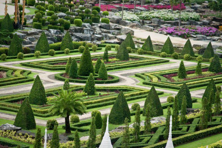 Nong Nooch Botanikus Kert Francia látványkert