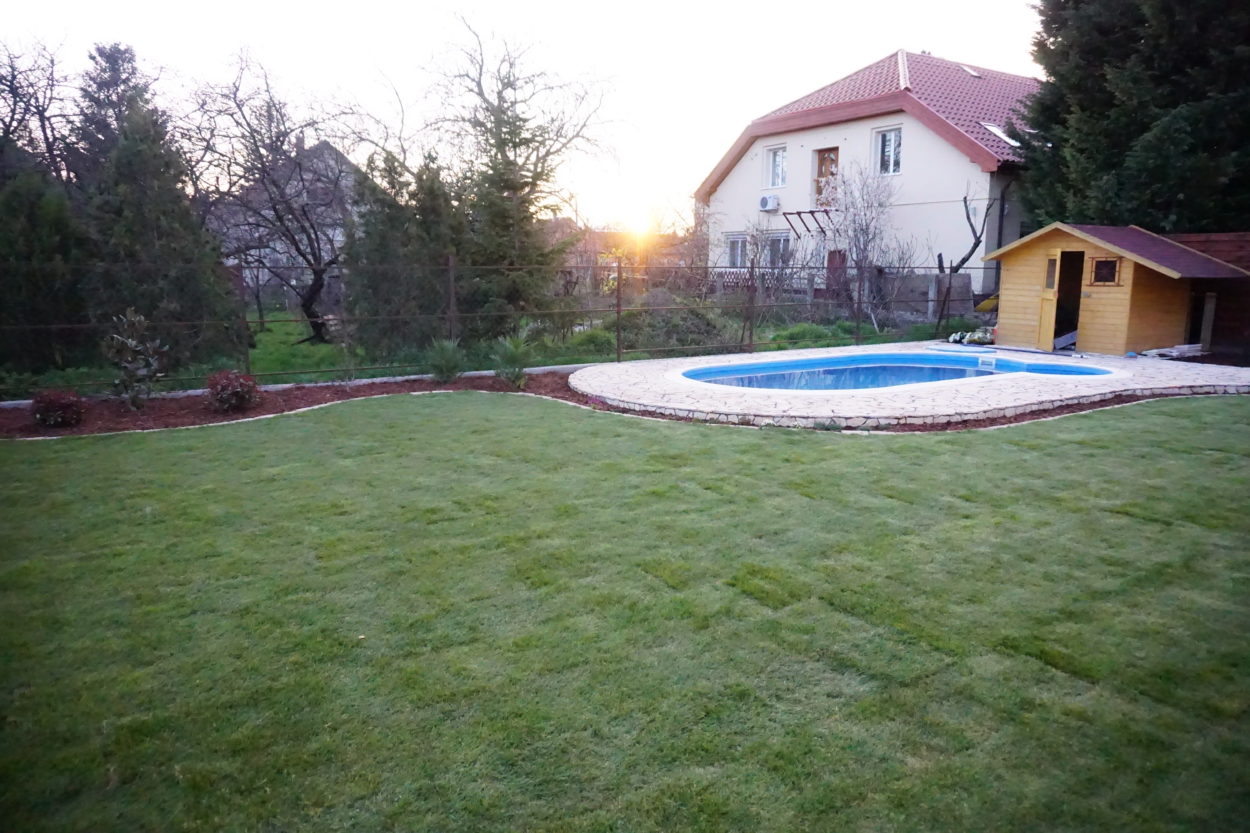 Otthon a kertben - a nagy füvesítés