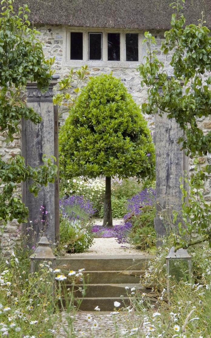angol vidéki kert