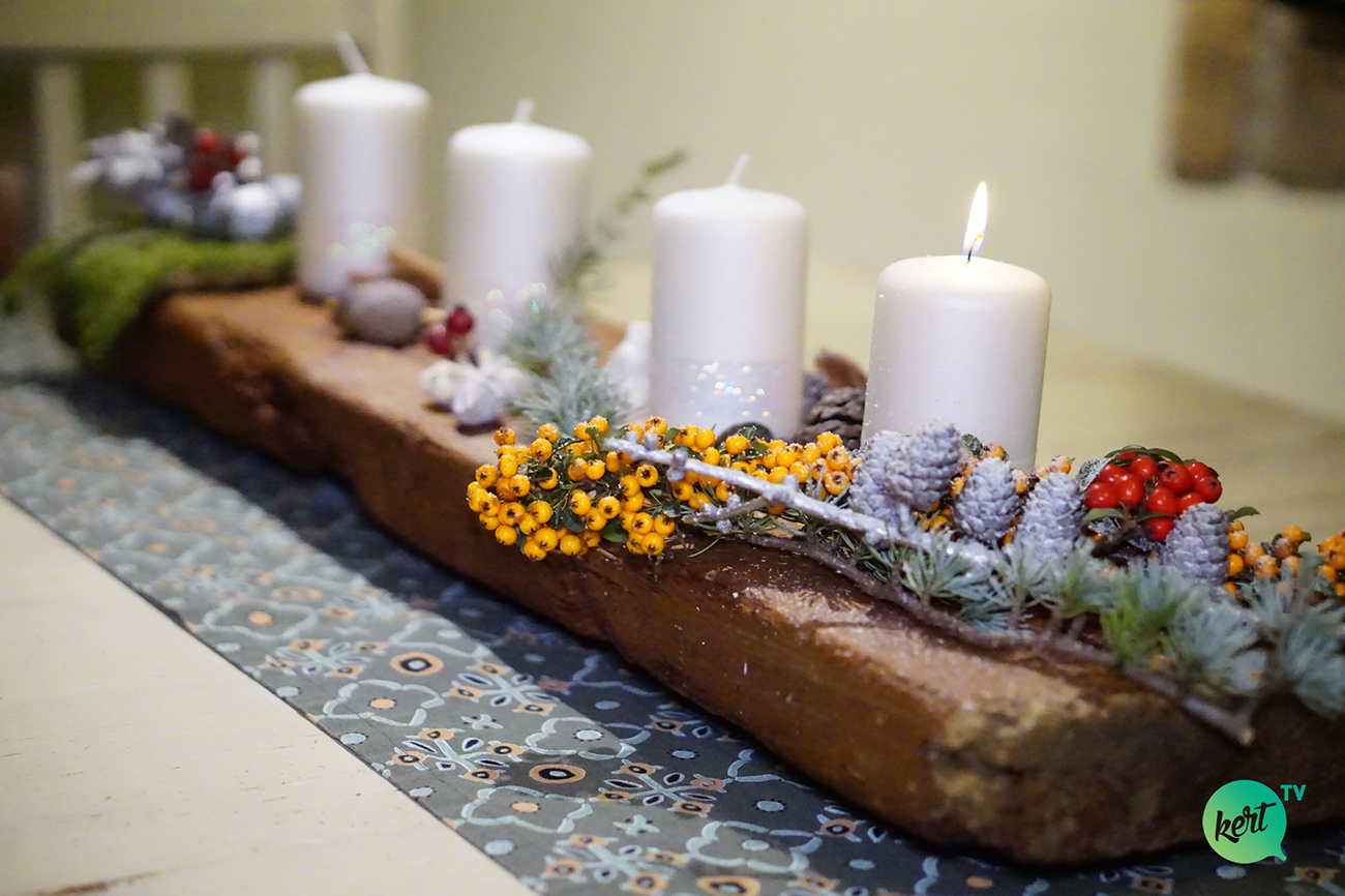 Adventi koszorú másképp - A legszebb rusztikus asztaldíszek adventre