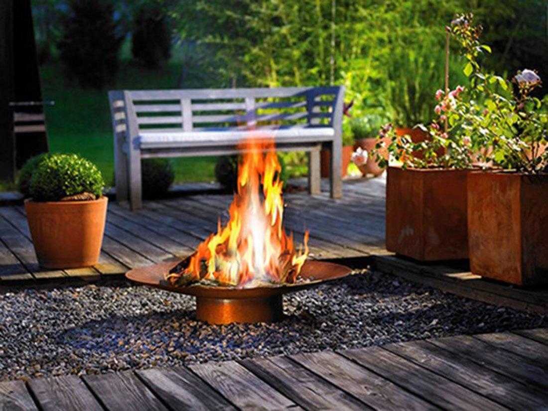 Meleget a kertbe! -  Modern tűzterek