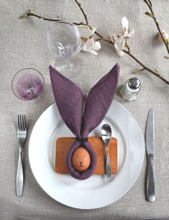 húsvét, ünnepi, teríték, asztal