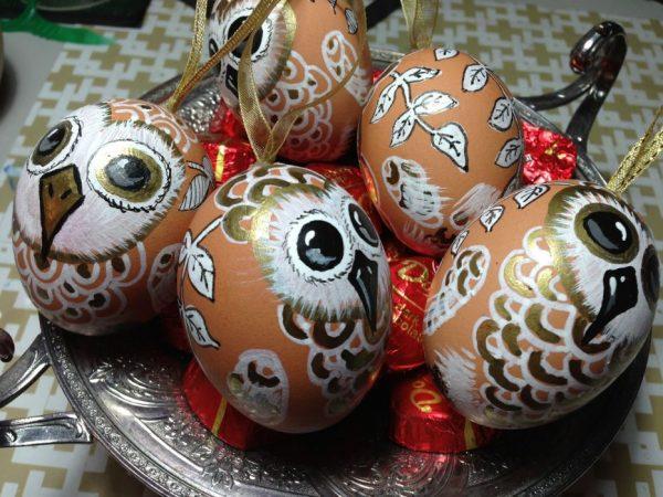 mintás húsvéti tojások