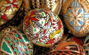 hímes tojás, festett tojás, húsvét