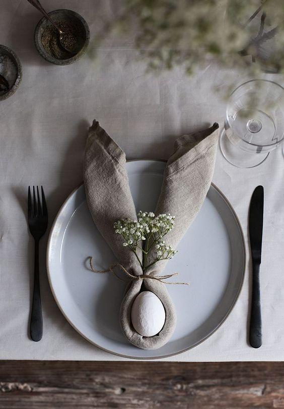 húsvét, ünnepi, asztal, terítés