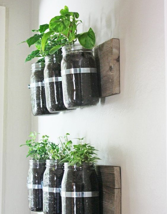 falon függő fűszernövénykert