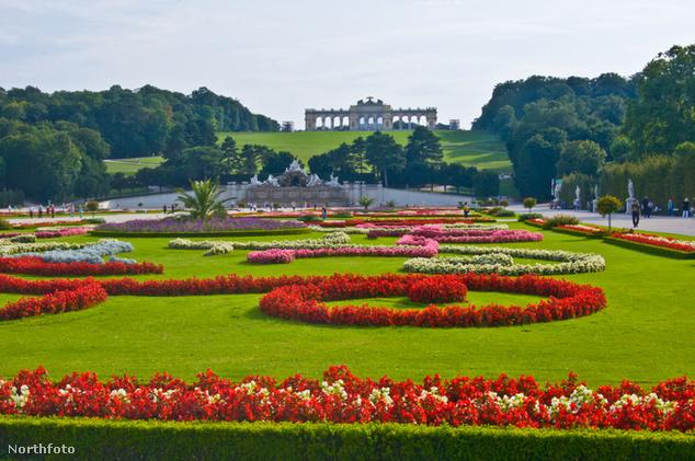 Schönbrunni-kastély kertje