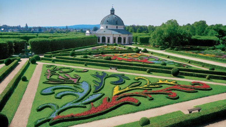 Kromeriz-kastély kertje