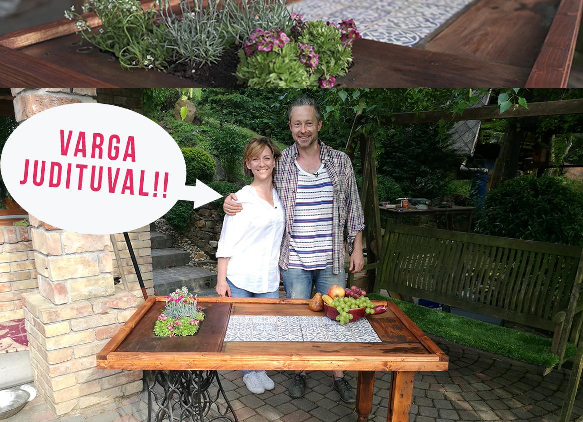 Kerti asztal régi Singer varrógépből - videó