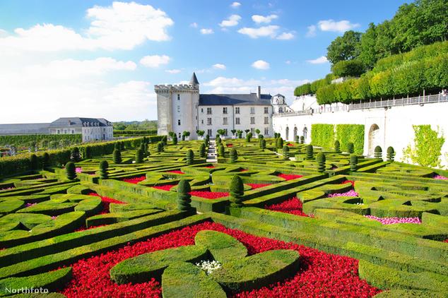 Villandry-kastély kertje
