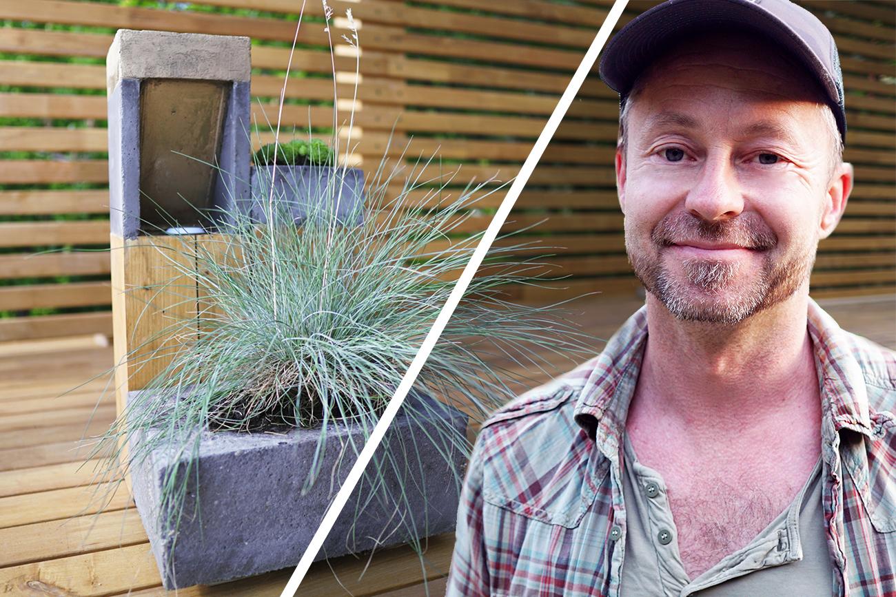 Modern kerti lámpa betonból - videó