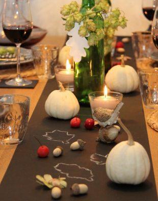 asztali, dekoráció, természet