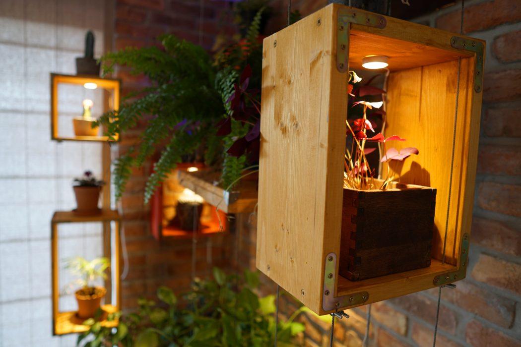 Lebegő-polcos növénysarok a nappaliban - videó