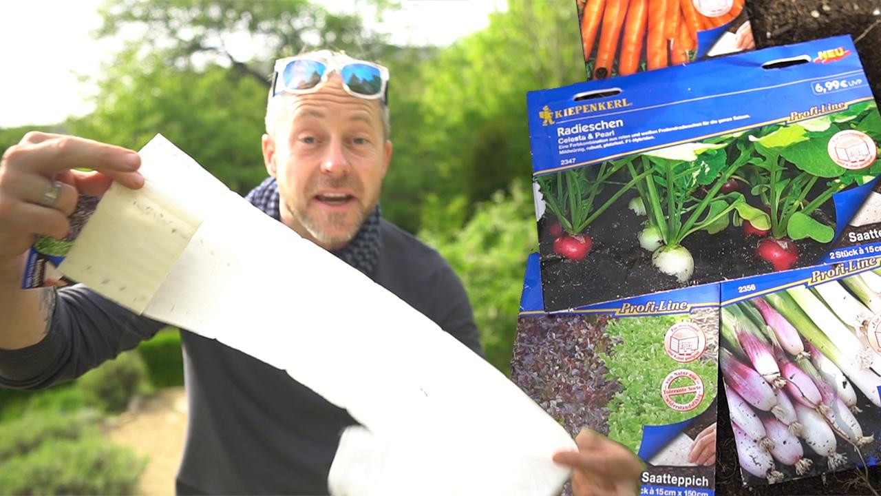 Vetőmagszőnyeg, a németek kedvenc kerti furfangja - videó