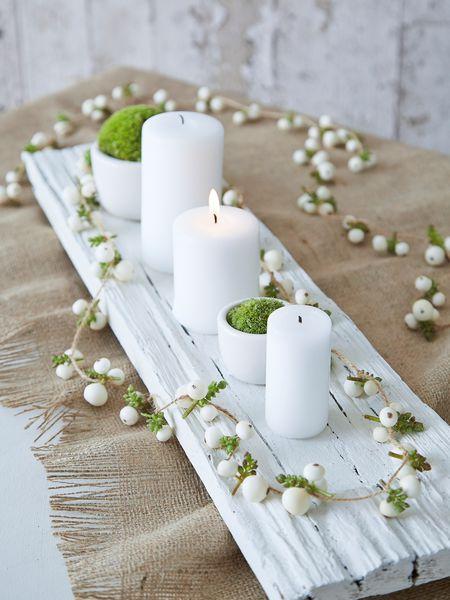 fehér adventi asztalközép