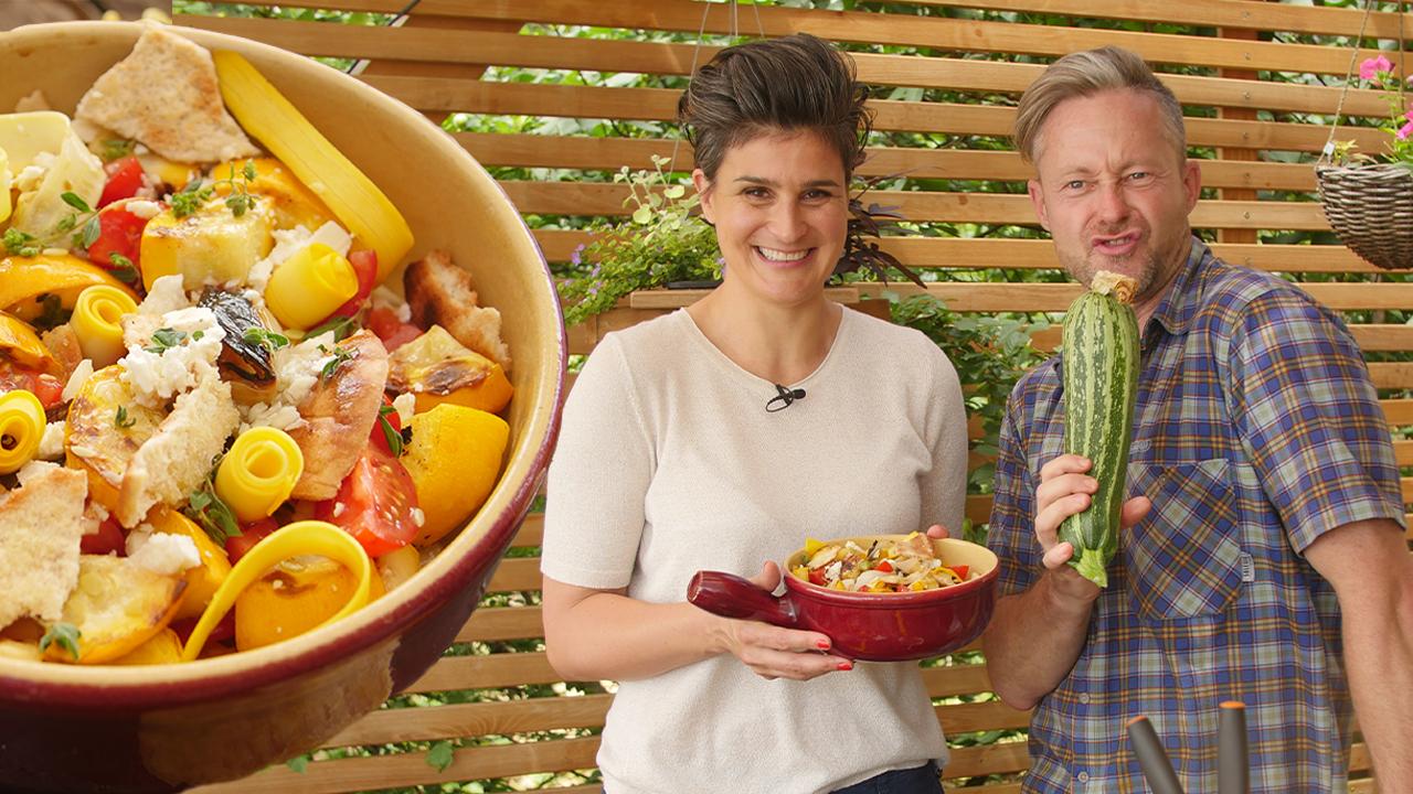 Isteni cukkini saláta a konyhakertből - vendégünk: Havas Dóra